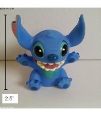 Stitch สติช ตัวเล็ก สูง 2.5 นิ้ว ตัวตุ๊กตาติดเสาอากาศรถ หรือติดกระจกรถ ก็ได้ มีจุ๊บติดกระจกอยู่ด้านห