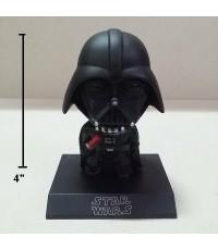ตุ๊กตาหัวโยก ด้านในเป็นสปริง ไว้ติดหน้ารถ หรือ ตกแต่ง ได้คะ ลาย สตาร์วอร์ (Starwars) ขนาดสูง 4 นิ้ว
