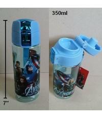 กระติกน้ำ เทดื่ม ลาย อเวนเจอร์ Avengers มีสายคล้องมือค่ะ ขนาดสูง 7 นิ้ว ความจุ 350ml