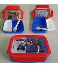 กล่องข้าว พร้อมส้อม ขนาด 7x5x2.5 นิ้ว ลาย อเวนเจอร์ Avengers