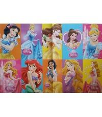 กระดาษห่อของขวัญ (หรือจะติดกำแพงห้องก็ได้คะ) ลาย เจ้าหญิง Princess ขนาด 30x20.5 นิ้ว แพ็คละ 10 แผ่น