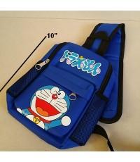 เป้สะพายเฉียง กระเป๋าคาดอก Shoulder bag ลาย โดราเอม่อน Doraemon ขนาด 6x10x3 นิ้ว