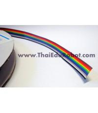 603 สายแพ สีรุ้ง แบบ 10 เส้น (Flat Cable, Ribbon cable) ราคาต่อเมตร
