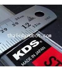 281 ไม้บรรทัด ฟุตเหล็ก 12 นิ้ว ของ KDS (made in Japan)