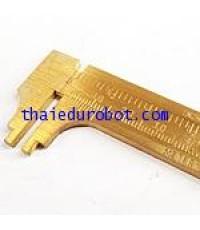 4475 เวอร์เนียทองเหลือง 100 mm / 4 in สเกลละเอียด 1/4, 1/2, 3/4