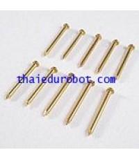 34219 ตะปูทองเหลือง ยาว 1 นิ้ว(2.5 cm), Dia. 1.7 mm ชุดล่ะ 10 ตัว