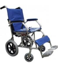 รถเข็นผู้ป่วยอลูมิเนียมอัลลอยด์ สีน้ำเงิน รุ่นล้อเล็ก