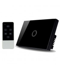Real Switch Touch 1 gang with remote control (Black)