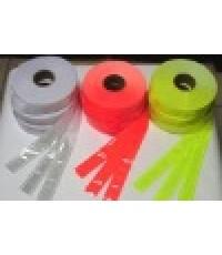 แถบสะท้อนแสง (PVC Reflective Ribbon) ชนิดพลาสติก PVC ยาว 50 เมตร  ขนาดต่างๆ