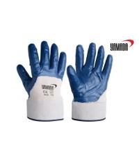 ถุงมือผ้าฝ้ายเคลือบยางไนไตร (ขอบเซฟตี้) 10 inch. รุ่น 10502 ยี่ห้อ YAMADA