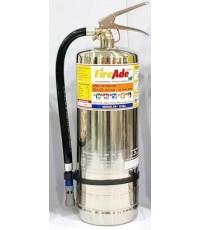 ถังดับเพลิงสแตนเลส Fire Rating 6A20B ดับไฟClass A B C D K ขนาด 15 ปอห์นยี่ห้อ FireAde2000 มาตรฐานUL