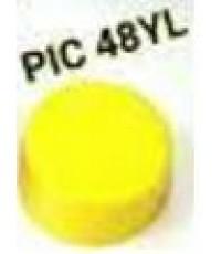 ไปป์แคบ Pipe Cap 48 mm. สีเหลือง ไม่มีแหวน