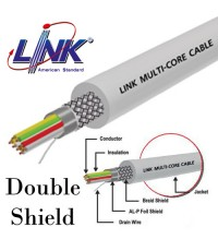 LINK Multi-Pair Cable 2 Pair (Double Shield) ,24 AWG ,Price/100 m. Model. CB-0252A