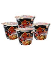 ฮวา  นูดเดิ้ล(บะหมี่กึ่งสำเร็จรูปรสเผ็ด)  (โบล์ว)  110 กรัม  เซ็ทสุดคุ้ม  4 โบล์ว Hwa  Noodle (bowl)