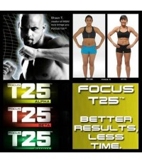 Focus T25 รวมทุกเฟสในแผ่นเดียว  มีทั้งหมด 16 ตอน พร้อมตารางการออกกำลังกาย