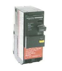 เมนเบรกเกอร์ ป้องกันไฟรั่ว/ดูด ชนิด 2 Pole 45Amp.30mA QO 245 MBGX30 Schneider