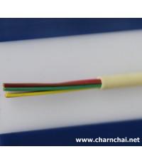สายโทรศัพท์ภายใน 3คู่สาย (สามเบอร์) 6 Core Station-Wire TIEV ขนาด 0.50 mm2 หรือ 24 AWG  100 ม้วน