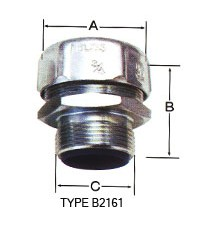 BLISS พีจี คอนเนคเตอร์ใช้กับท่ออ่อนกันน้ำ Type B2161