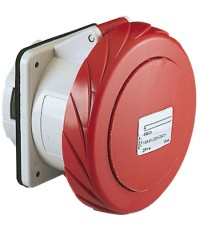Straight Socket IP67 ปลั๊กตัวเมียแบบฝัง ตรง รุ่นกันน้ำพิเศษ 3PE 400V, 32A, สีแดง