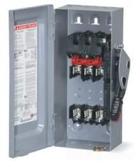 Safety Switch เซฟตี้สวิตซ์แบบสามารถติดตั้งฟิวส์ได้ 3 เฟส 4 สาย 600V 60A Indoor