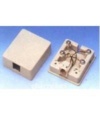 MODULAR BOX 6P4C SIZE : W(5) X H(5.5) X D(2) CM. (TAIWAN) ตลับโทรศัพท์ 4C