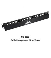 LINK US-3053 CABLE – CABLE MANAGEMENT PANEL 1U WITH COVER
