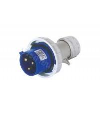 ปลั๊กตัวผู้กันน้ำ 2P+E  220V  16A   รหัสCN434