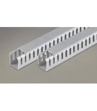 รางโปร่ง สีเทา รหัสWD302 รายการ (25x25มม.กว้างxสูง)(4 มม.ร่อง) จำนวน/Pack 120