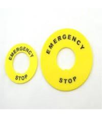 รหัสCP937  รายการ ป้าย Emergency ใหญ่ 22x60มม.