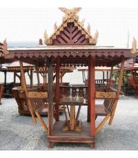 ศาลาไทย หลังคาไม้จริง