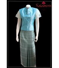 ชุดผ้าไหมไทยประยุกต์