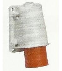 ปลั๊กตัวผู้แบบลอย 3P+E 400V 16A สีแดง PKE16W434