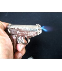 ไฟแช็ครูปปืน มีเลเซอร์ที่ปากกระบอก สวยงาม น่าสะสม