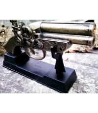 ไฟแช็ครูปปืนคาบศิลาโบราณรายละเอียดดีสวยงามพร้อมขาตั้งโชว์