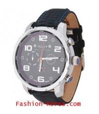 นาฬิกาแฟชั่น Julius Homme JAH-029 สีดำ/เงิน/หน้าดำ