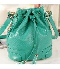 *พร้อมส่ง*  กระเป๋าแฟชั่น Axixi สีเขียวพาสเทล หูรูด ใช้ได้หลายทรง เปลี่ยนเป็นเป้ได้ คุ้มสุด ๆ ส่งตรง