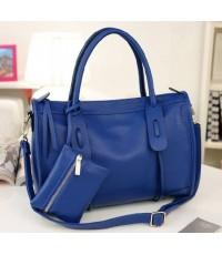 *พร้อมส่ง* กระเป๋าแฟชั่น Axixi สีน้ำเงิน สวยสุดมั่น