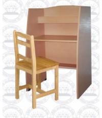 โต๊ะหนังสือนั่งเดียวพร้อมเก้าอี้