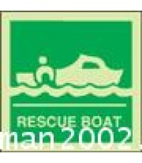 Rescue Boat sign