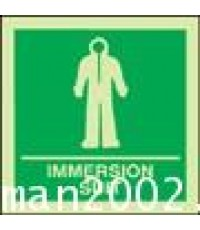 Immersion suit sign