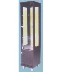 ตู้กระจก ตู้โชว์ใส 4ด้านสีโอ๊ค DL402