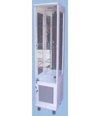 ตู้กระจก ตู้โชว์ดาวน์ไลท์ 40 ซม.สีขาวผิวเมลามีนDL 401