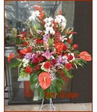 สแตนด์ดอกไม้แดงชมพู (stand flower)