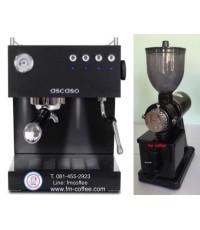 เครื่องชงกาแฟ ascaso Uno PM 1 G + เครื่องบดกาแฟ 600n Black/Red