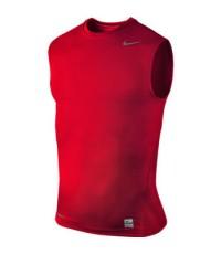 Nike Pro-Core Tight Sleeveless Baselayer  แขนกุด สีแดง