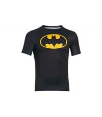 Under Armour Batman Logo Compression S/S T-Shirt Black/Taxi