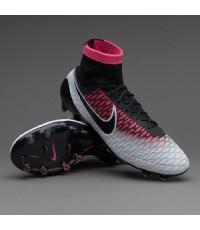 Nike Magista Obra FG - White/Black/Pink Blast/Volt