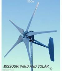 กังหันลมผลิตไฟฟ้าขนาด 500 W(USA)