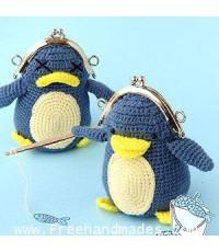 กระเป๋าโครเชต์ Pinny Gang YoYo โยโย่ เพนกวินขี้งอน 4.5x5 นิ้ว