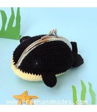 กระเป๋าโครเชต์ Pinny Gang Fisho Whale ฟิชโชวาฬ 4x3.5 นิ้ว